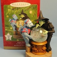 2001 Poppy Field Hallmark Wizard of Oz Magic Retired Ornament
