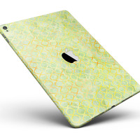 """Green and Yellow Watercolor Helix Pattern Full Body Skin for the iPad Pro (12.9"""" or 9.7"""" available)"""
