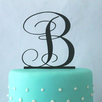 50% OFF TODAY Monogram Wedding Cake Topper - Acrylic Cake topper