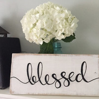 Rustic Home Decor, Blessed Sign ~ Rustic Pallet Sign, Hand-Painted Pallet Sign, Customizable Rustic Pallet Sign