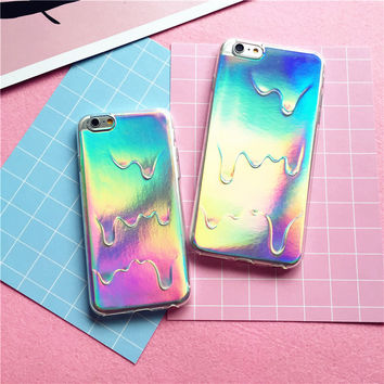Creative Ice Melting cover for iPhone