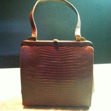 Vintage Genuine Lizard Handbag by Vassar