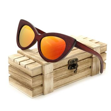 BOBO BIRD Rosewood Polarized Wooden Sunglasses for Women Men Handmade Wood Sun Glasses oculos de sol masculino BG020