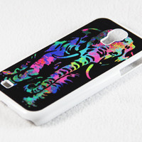 Stylish Abstract Elephant Samsung Galaxy S4 + S3 Rubber Case and S2 NOTE 2 Hard Cover Case