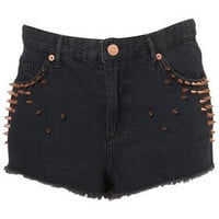 Studded High Waist Hotpants - Pants & Shorts - Style Steals  - New In