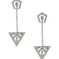 Banana Republic Triangle Drop Earring Size One Size - Clear crystal