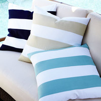 Outdoor Stripe Pillow - Horchow