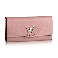 Louis Vuitton Taurillon Leather Capucines Wallets Magnolia Article: M61250