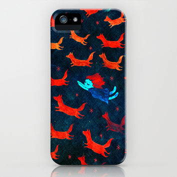 flight of the foxes iPhone & iPod Case by Wirrow
