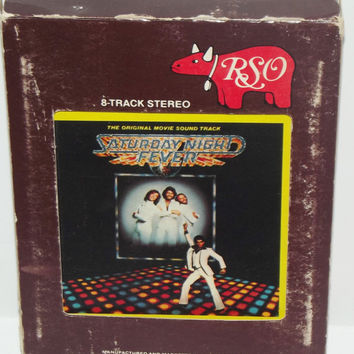 Saturday Night Fever 8 Track Original Movie Soundtrack 1977 RSO Records 8-T-2-4001 Bee Gees Disco Music Play-tested Works Includes Slipcase