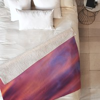 Shannon Clark Painted Sunset Fleece Throw Blanket