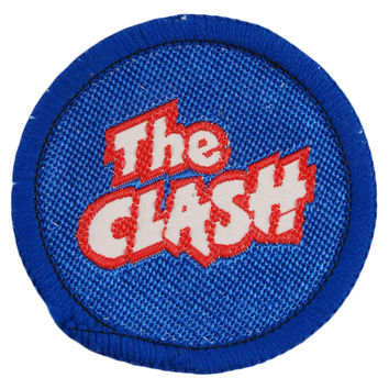 Clash Men's Round Logo With Blue Border Woven Patch Blue