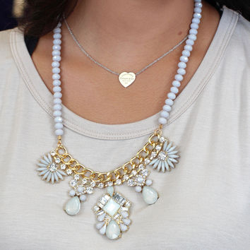 Iridescent Statement Necklace {Mint Mix}
