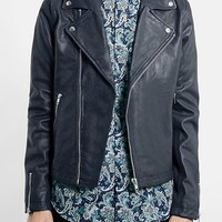 Men's Topman Leather Biker Jacket