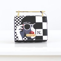 Checker Print Wallet