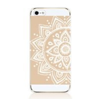 AiGoo Apple iPhone 5 5S 5G Case, Newly Fashion Stylish iPhone 5 5s 5G Cover,Classical Relief Crafts Dream Catcher White l Paisley Mandala Floral Flower Vintage/Retro Pattern PC Hard Clear Case Cover Ultra Slim Fit For iPhone5 5s 5G