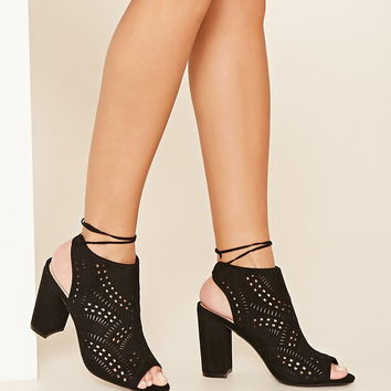 Open-Toe Geo Cutout Heels