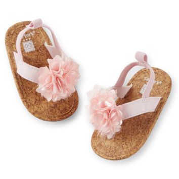 Plume Flip Flop Crib Shoes