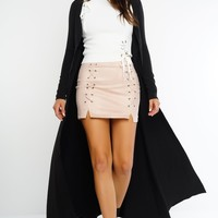 Yanna Long Duster Coat- Black