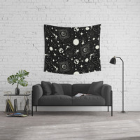 Solar System Wall Tapestry by Heather Dutton