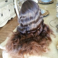 Ombre Brownish Lace Front Wig