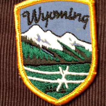 Wyoming Vintage Travel Patch by Voyager