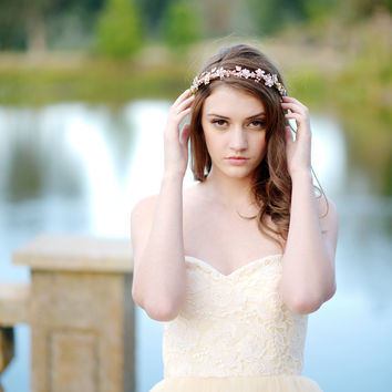 Crystal floral headpiece - style 1106
