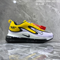 hcxx N1070 Nike Air Max 720 Nanotechnology Drop Plastic Material Full Palm Air Cushion Running Shoes White Black Yellow