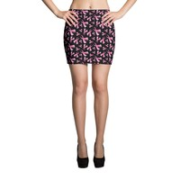 Breast Cancer Awareness Pink Ribbon Mini Skirt