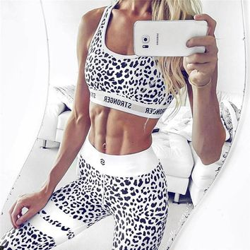New 2 in 1 Bra+Pants Sports Yoga Suits Sexy Running Set Female Breathable Gym Jogging Sport Set Quick Dry Girls Yoga Suits Set
