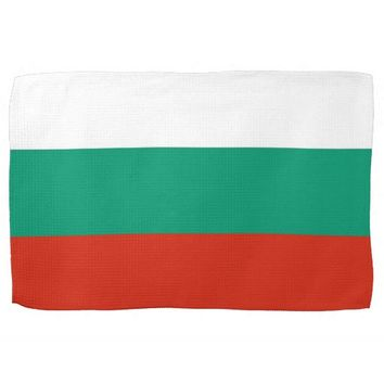 Kitchen towel with Flag of Bulgaria