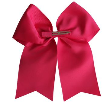2 pcs 8 inch Cheer Bow WITH Clips Cheer leading bow Large hairbow Hair clip Hairpins Holiday bows Kids girl Teen girl Hair bow