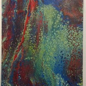 Acid Rain Abstract Original Art Painting on Canvas