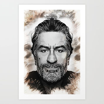 Robert De Niro - Caricature Art Print by naumovski