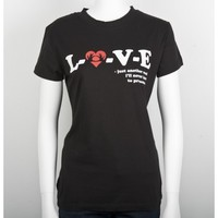 3OH!3 - LOVE Juniors T-Shirt Black