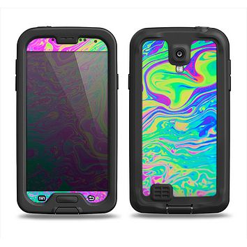 The Neon Color Fushion Samsung Galaxy S4 LifeProof Fre Case Skin Set