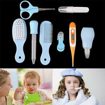 1 Set Newborn Baby Nail Hair Health Care Body Thermometer Grooming Kit Set Gift Baby Care Sets