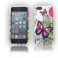 iPhone 5S/ 5 Two Pink Butterflies Protective Case