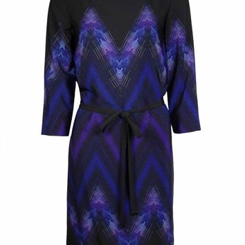 Tahari Women's Stevie Chevron Dress