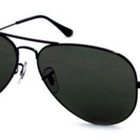 Ray-Ban RB 3025 L2823 58 Unisex Aviator Large Black Metal Green G-15 Lens Sunglass