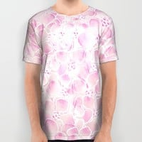 Pink Abstract Flowers All Over Print Shirt by Lena Photo Art