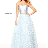 Sherri Hill 50901 Floral Petal Overlay Formal Prom Dress