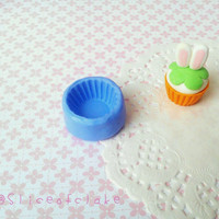Polymer clay cupcake base mold