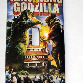 Light Switch Cover - Light Switch Plate King Kong vs Godzilla Vintage Movie Poster