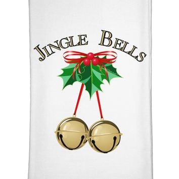 Jingle Bells Flour Sack Dish Towels by TooLoud