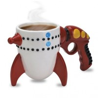 BigMouth Inc The Retro Ray Gun Rocket Mug