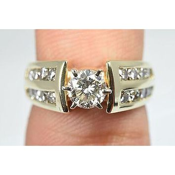 1.48 ct Diamond G SI1 Round Engagement Ring 14k Yellow Gold Ring Size 6.5 Zales