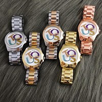 TOUS Sale Vintage Fashion Classic Watch Round Ladies Women Men wristwatch On Sales 5-Color Rose gold silver G-Fushida-8899