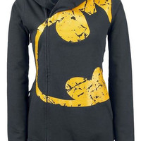 Dark Gray Batman Printed Pocket Design Hoodie