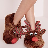 Missguided - Reindeer Slippers
